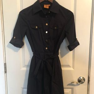 Tory Burch Navy Blue Pleated Dress Size 4